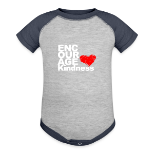 Kindness with Heart - Unisex Tee - Baby Contrast One Piece