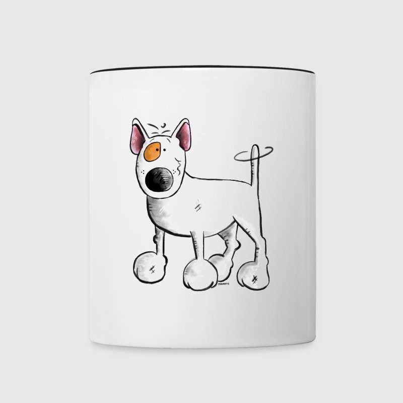 Funny English Bull Terrier- Bullterrier Bottles & Mugs - Contrast Coffee Mug