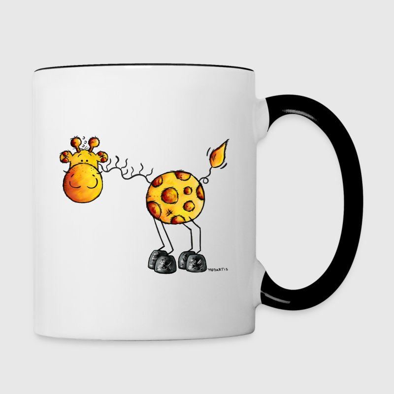 Funny Giraffe - Wildlife - Cartoon  Bottles & Mugs - Contrast Coffee Mug