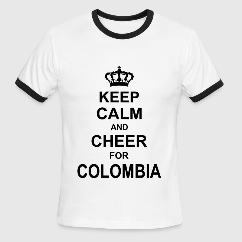 keep_calm_and_cheer_for_colombia_g1 T-Shirts - Men's Ringer T-Shirt