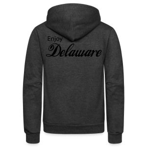 ENJOY DELAWARE - Unisex Fleece Zip Hoodie by American Apparel
