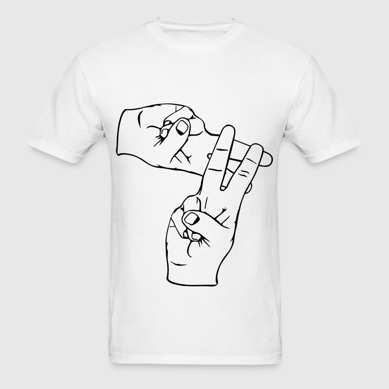 hashtag hands T-Shirts - Men's T-Shirt