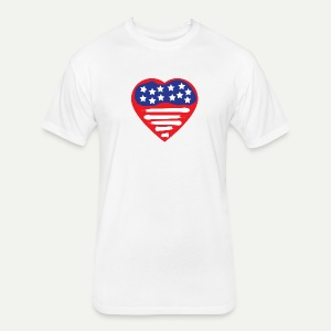 Heart Flag - Fitted Cotton/Poly T-Shirt by Next Level