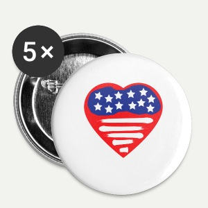 Heart Flag - Small Buttons
