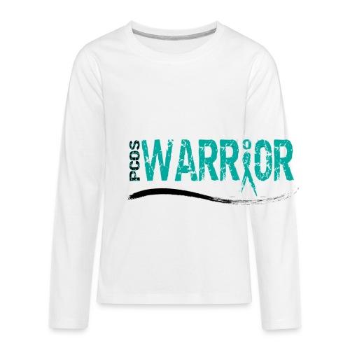 PCOS Warrior Travel Mug - Kids' Premium Long Sleeve T-Shirt