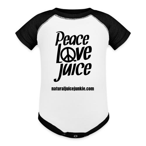 Peace Love Juice - Men's Tee - Baby Contrast One Piece