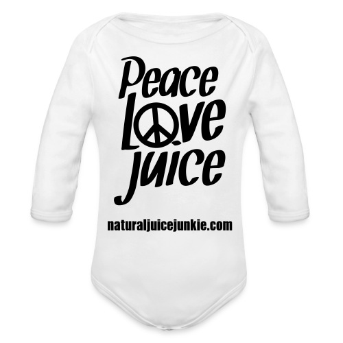 Peace Love Juice - Men's Tee - Organic Long Sleeve Baby Bodysuit