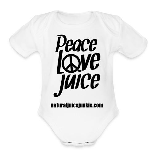 Peace Love Juice - Men's Tee - Organic Short Sleeve Baby Bodysuit
