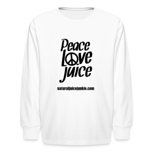 Peace Love Juice - Men's Tee - Kids' Long Sleeve T-Shirt