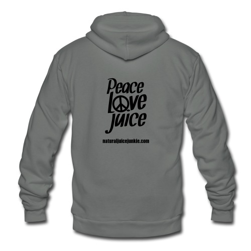 Peace Love Juice - Men's Tee - Unisex Fleece Zip Hoodie