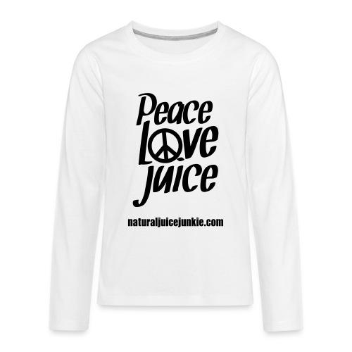 Peace Love Juice - Men's Tee - Kids' Premium Long Sleeve T-Shirt