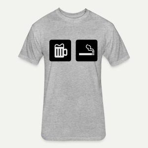 Beer & Smoke - Fitted Cotton/Poly T-Shirt by Next Level