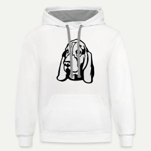 Basset Hound - Contrast Hoodie