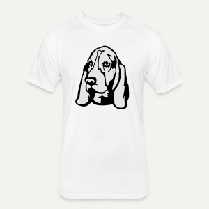 Basset Hound - Fitted Cotton/Poly T-Shirt by Next Level