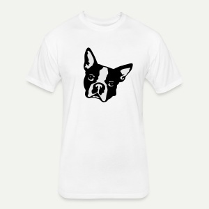 Boston Terrier - Fitted Cotton/Poly T-Shirt by Next Level