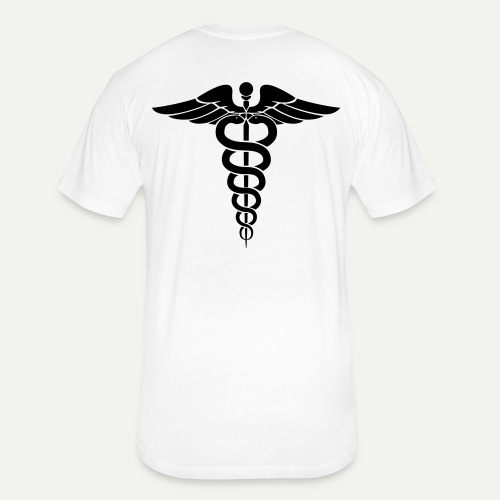 Medical Symbol - Fitted Cotton/Poly T-Shirt by Next Level