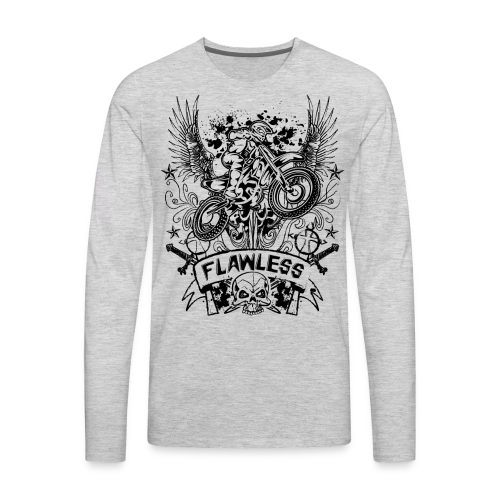 Flawless Dirt Bike Shirt - Men's Premium Long Sleeve T-Shirt
