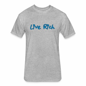 Live Rich Signature - Fitted Cotton/Poly T-Shirt by Next Level