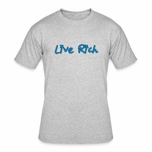 Live Rich Signature - Men's 50/50 T-Shirt