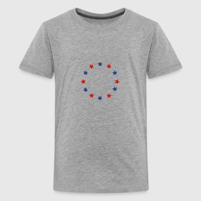 Blue and red stars in a circle, vector Kids' Shirts - Kids' Premium T-Shirt