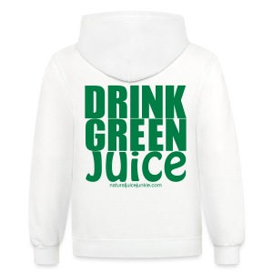 Drink Green Juice - Men's Ringer Tee - Contrast Hoodie