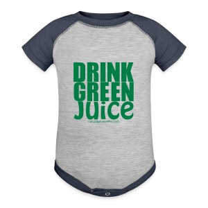 Drink Green Juice - Men's Ringer Tee - Baby Contrast One Piece