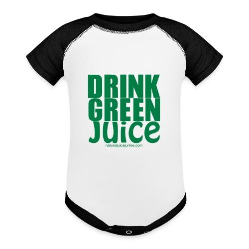 Drink Green Juice - Men's Ringer Tee - Contrast Baby Bodysuit