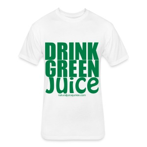 Drink Green Juice - Men's Ringer Tee - Fitted Cotton/Poly T-Shirt by Next Level
