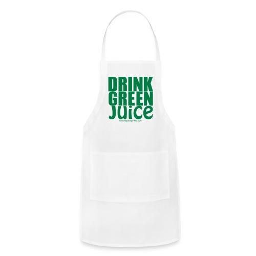 Drink Green Juice - Men's Ringer Tee - Adjustable Apron