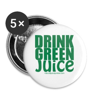 Drink Green Juice - Men's Ringer Tee - Large Buttons