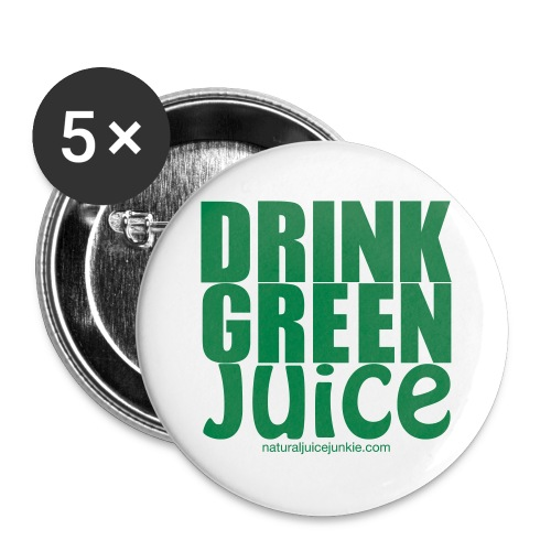 Drink Green Juice - Men's Ringer Tee - Small Buttons