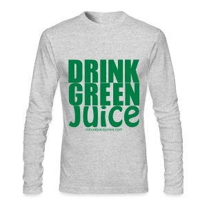 Drink Green Juice - Men's Ringer Tee - Men's Long Sleeve T-Shirt by Next Level