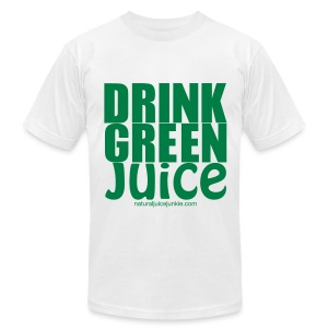 Drink Green Juice - Men's Ringer Tee - Men's T-Shirt by American Apparel