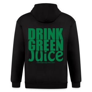 Drink Green Juice - Men's Ringer Tee - Men's Zip Hoodie