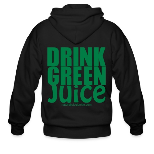 Drink Green Juice - Men's Ringer Tee - Men's Zip Hoodie