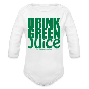 Drink Green Juice - Men's Ringer Tee - Long Sleeve Baby Bodysuit