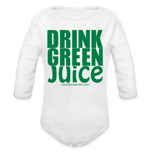 Drink Green Juice - Men's Ringer Tee - Organic Long Sleeve Baby Bodysuit