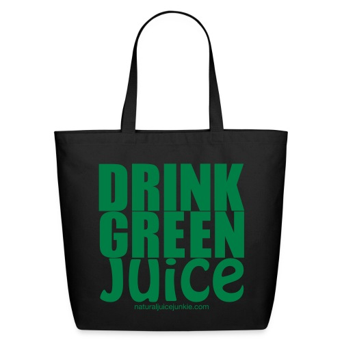 Drink Green Juice - Men's Ringer Tee - Eco-Friendly Cotton Tote