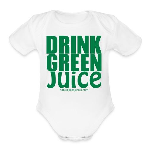 Drink Green Juice - Men's Ringer Tee - Organic Short Sleeve Baby Bodysuit