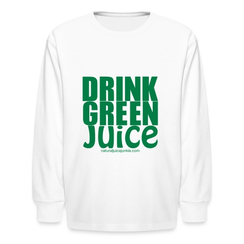 Drink Green Juice - Men's Ringer Tee - Kids' Long Sleeve T-Shirt