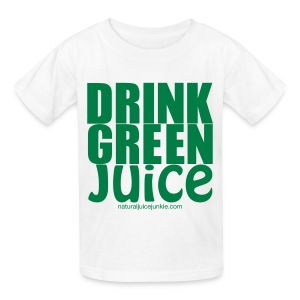 Drink Green Juice - Men's Ringer Tee - Kids' T-Shirt