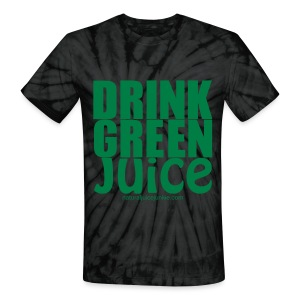 Drink Green Juice - Men's Ringer Tee - Unisex Tie Dye T-Shirt