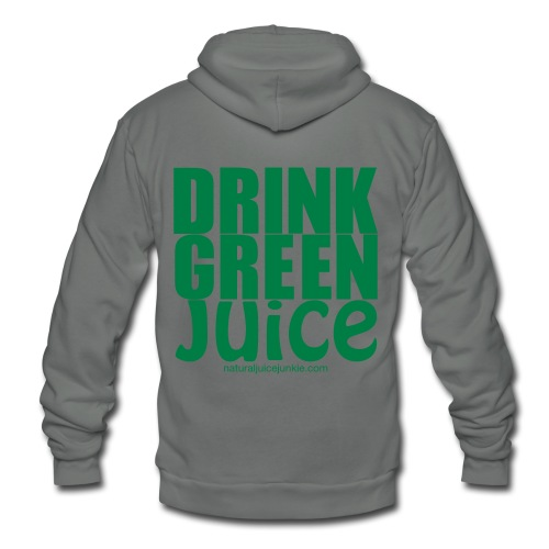 Drink Green Juice - Men's Ringer Tee - Unisex Fleece Zip Hoodie