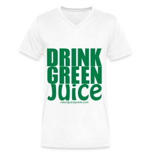 Drink Green Juice - Men's Ringer Tee - Men's V-Neck T-Shirt by Canvas
