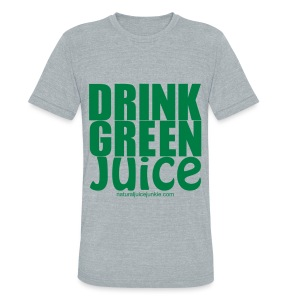Drink Green Juice - Men's Ringer Tee - Unisex Tri-Blend T-Shirt by American Apparel