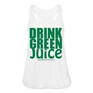 Drink Green Juice - Men's Ringer Tee - Women's Flowy Tank Top by Bella