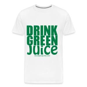 Drink Green Juice - Men's Ringer Tee - Men's Premium T-Shirt