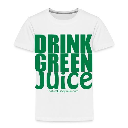 Drink Green Juice - Men's Ringer Tee - Toddler Premium T-Shirt