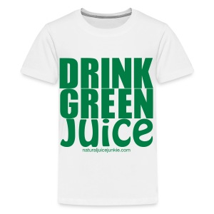 Drink Green Juice - Men's Ringer Tee - Kids' Premium T-Shirt