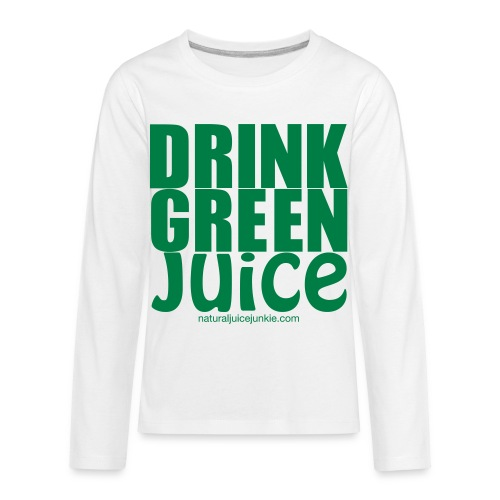 Drink Green Juice - Men's Ringer Tee - Kids' Premium Long Sleeve T-Shirt